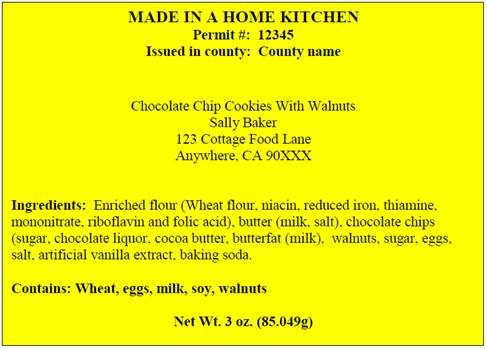 Online Form - Cottage Food Operation - Class A & B